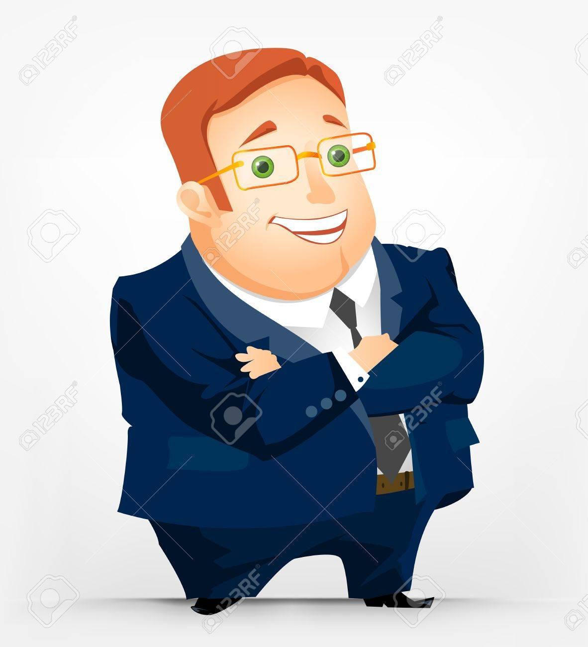 Cheerful Chubby Man Stock Vector - 17546349