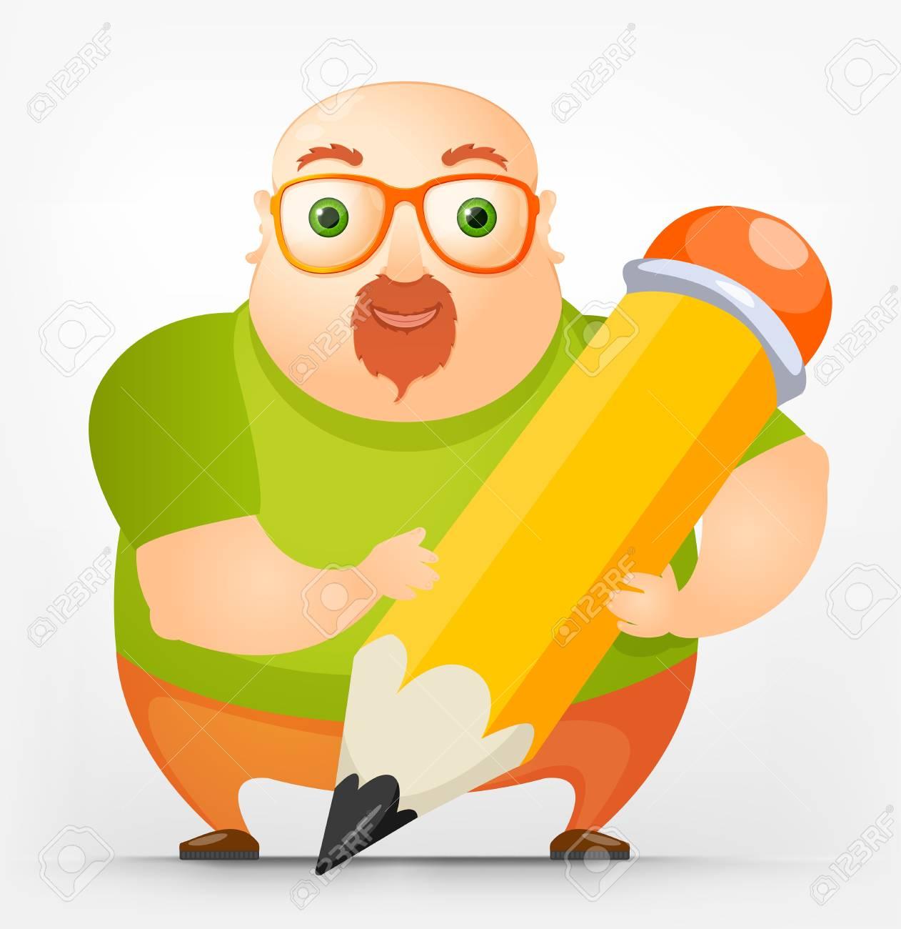 Cheerful Chubby Man Stock Vector - 17546378