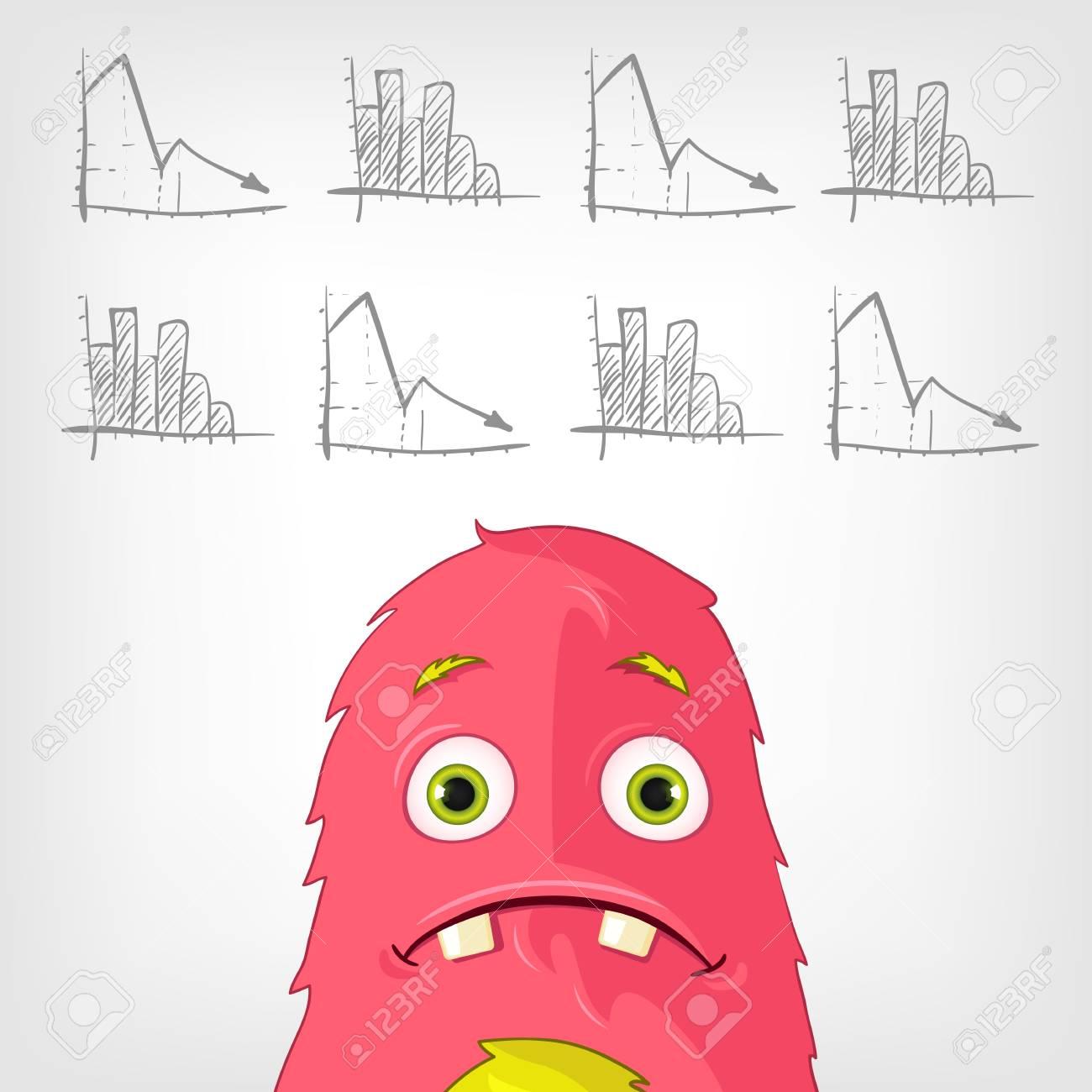Funny Monster Stock Vector - 17677809