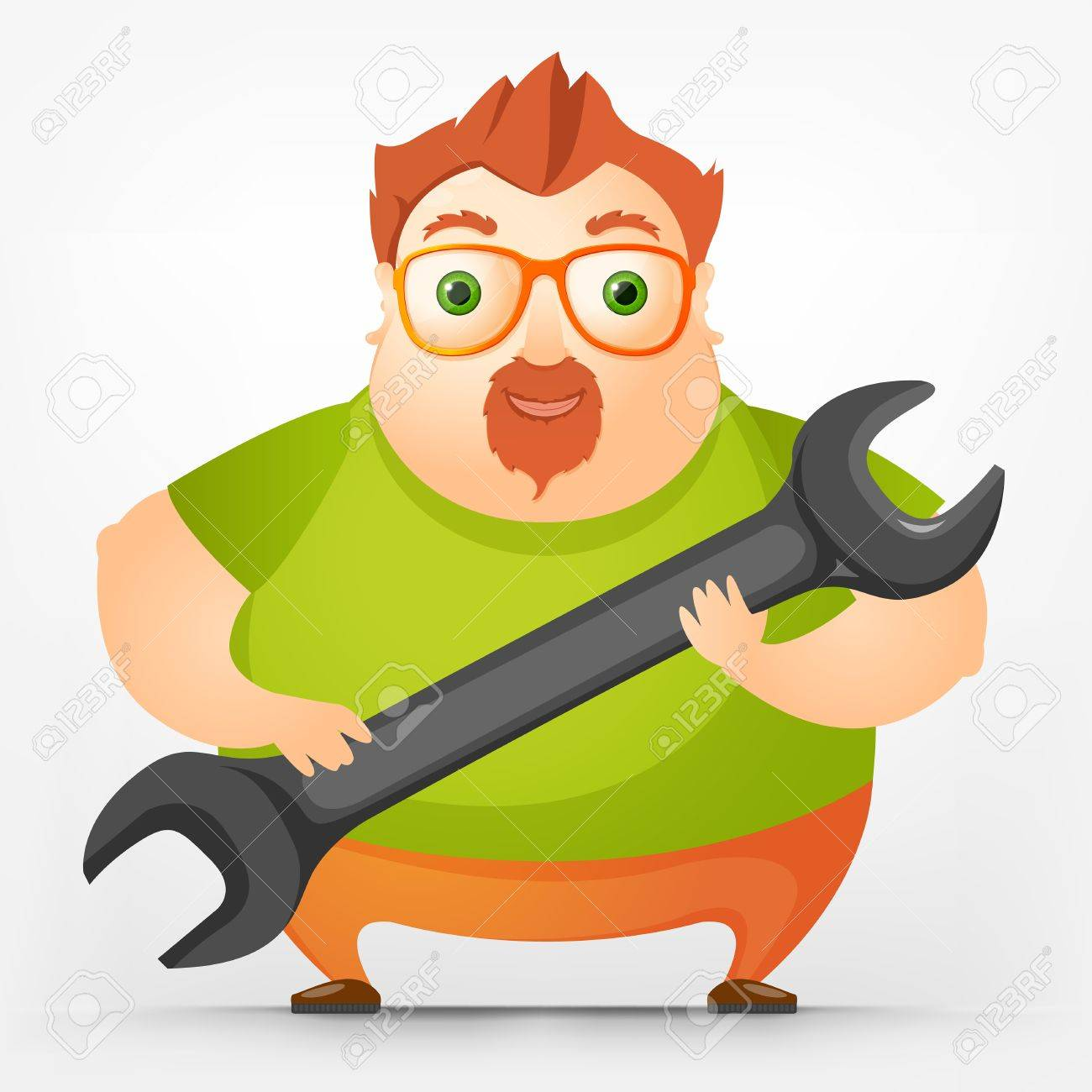 Cheerful Chubby Men Stock Vector - 17677840