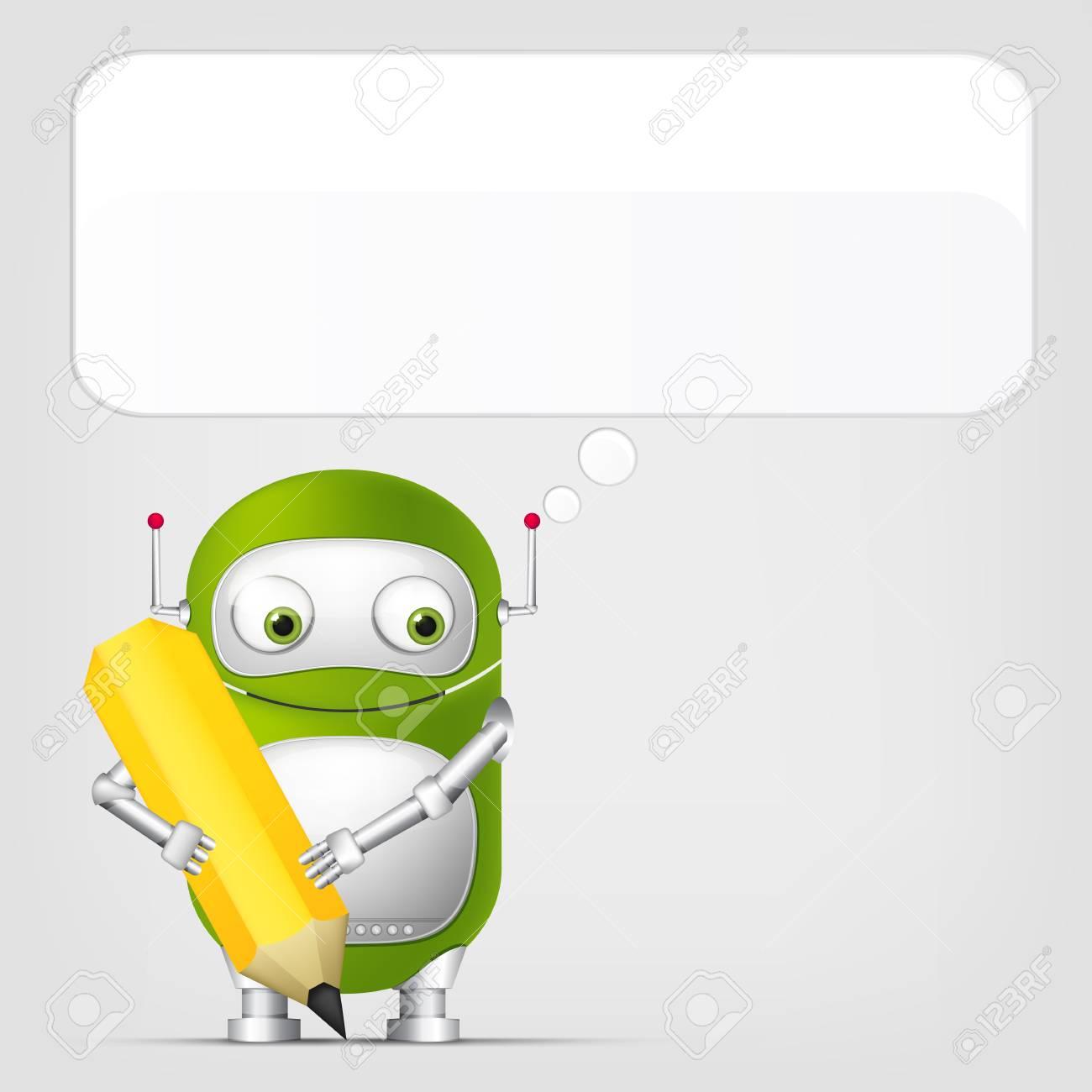 Cute Robot Stock Vector - 18725312