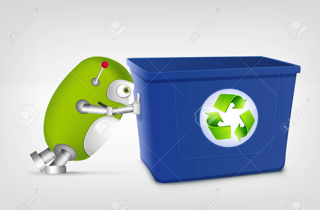 Green Robot Stock Vector - 20070181