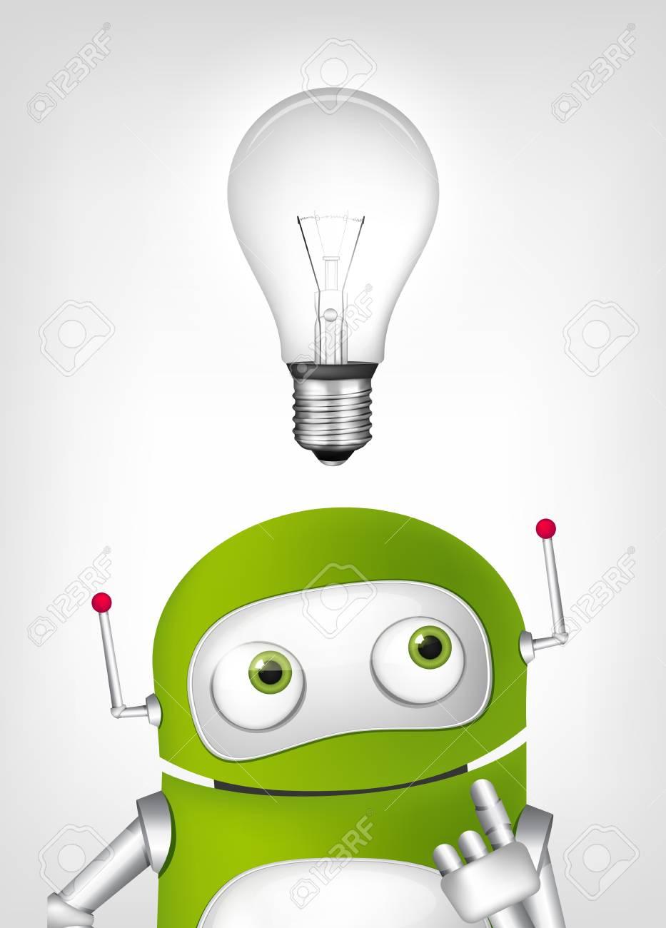 Green Robot Stock Vector - 20070200
