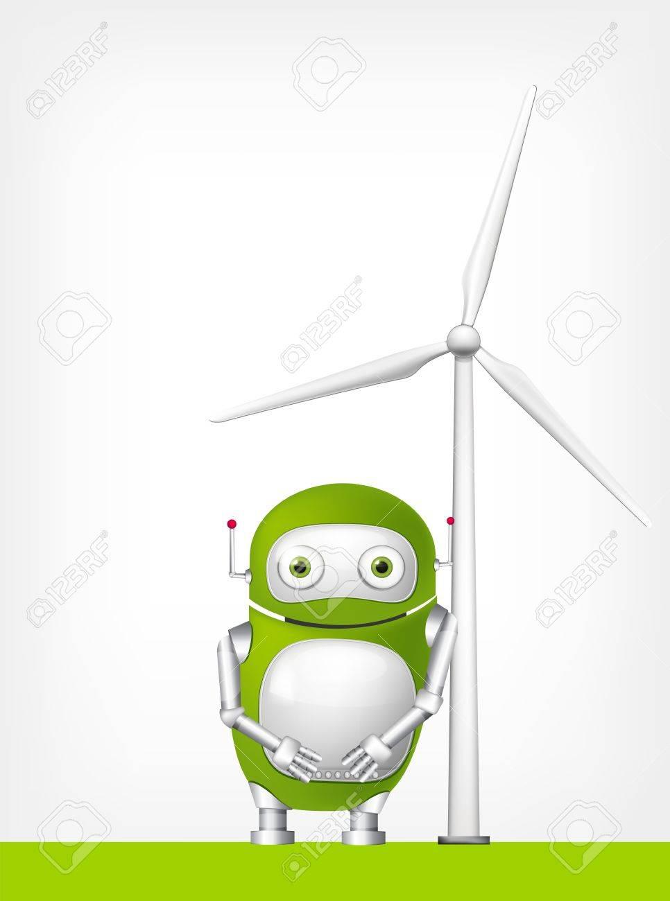 Green Robot Stock Vector - 20068520