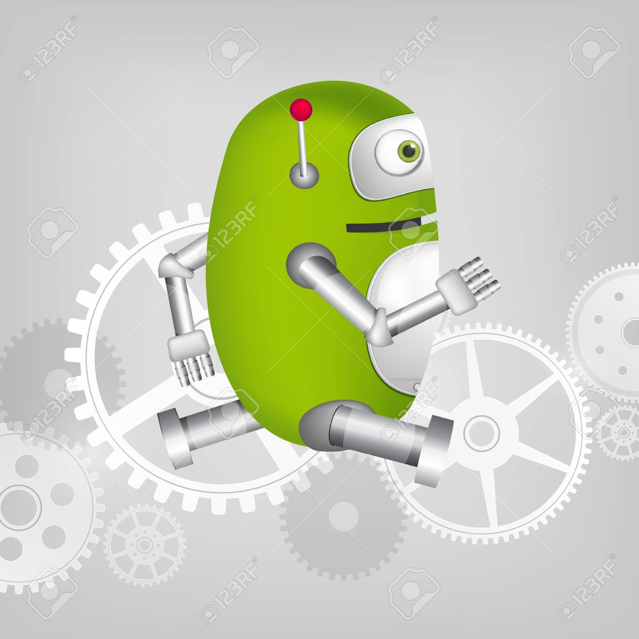 Green Robot Stock Vector - 20070234