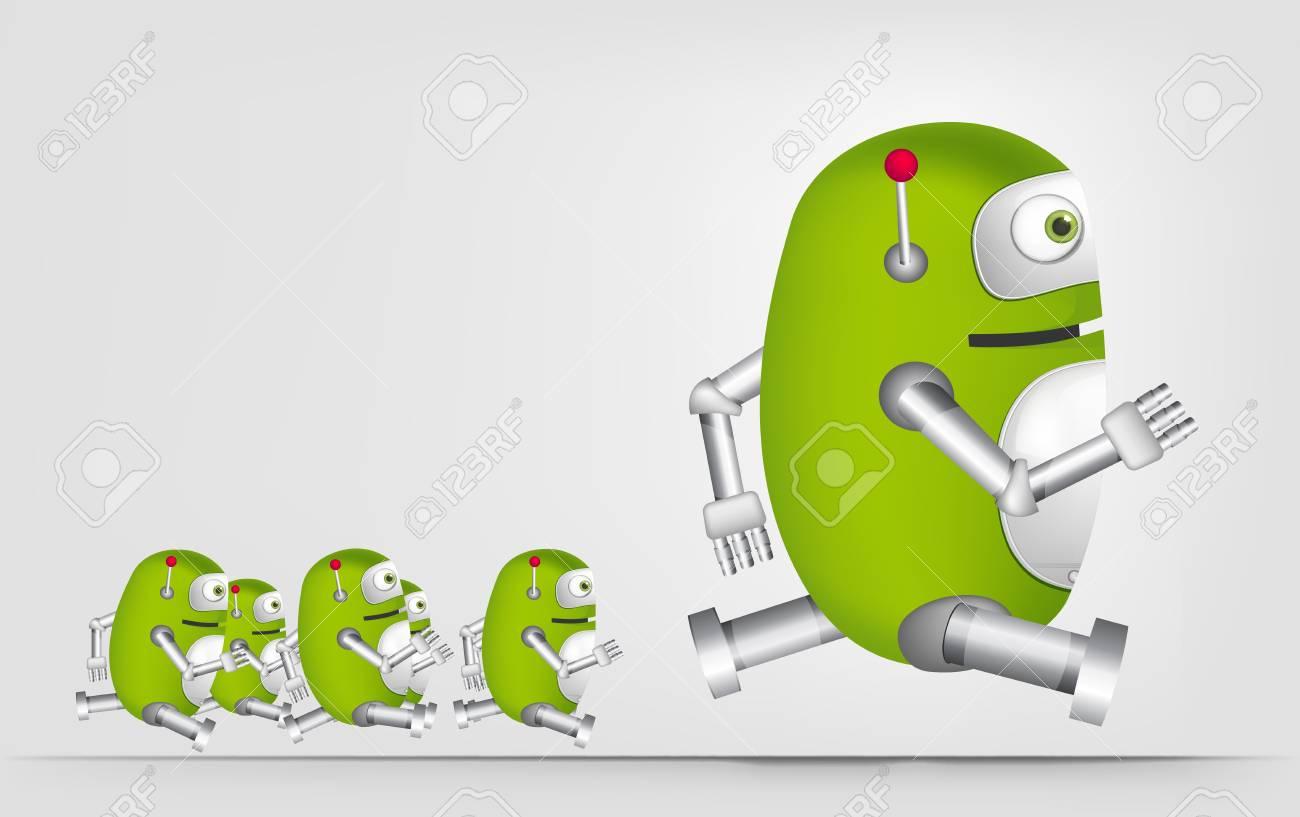 Green Robot Stock Vector - 20070276