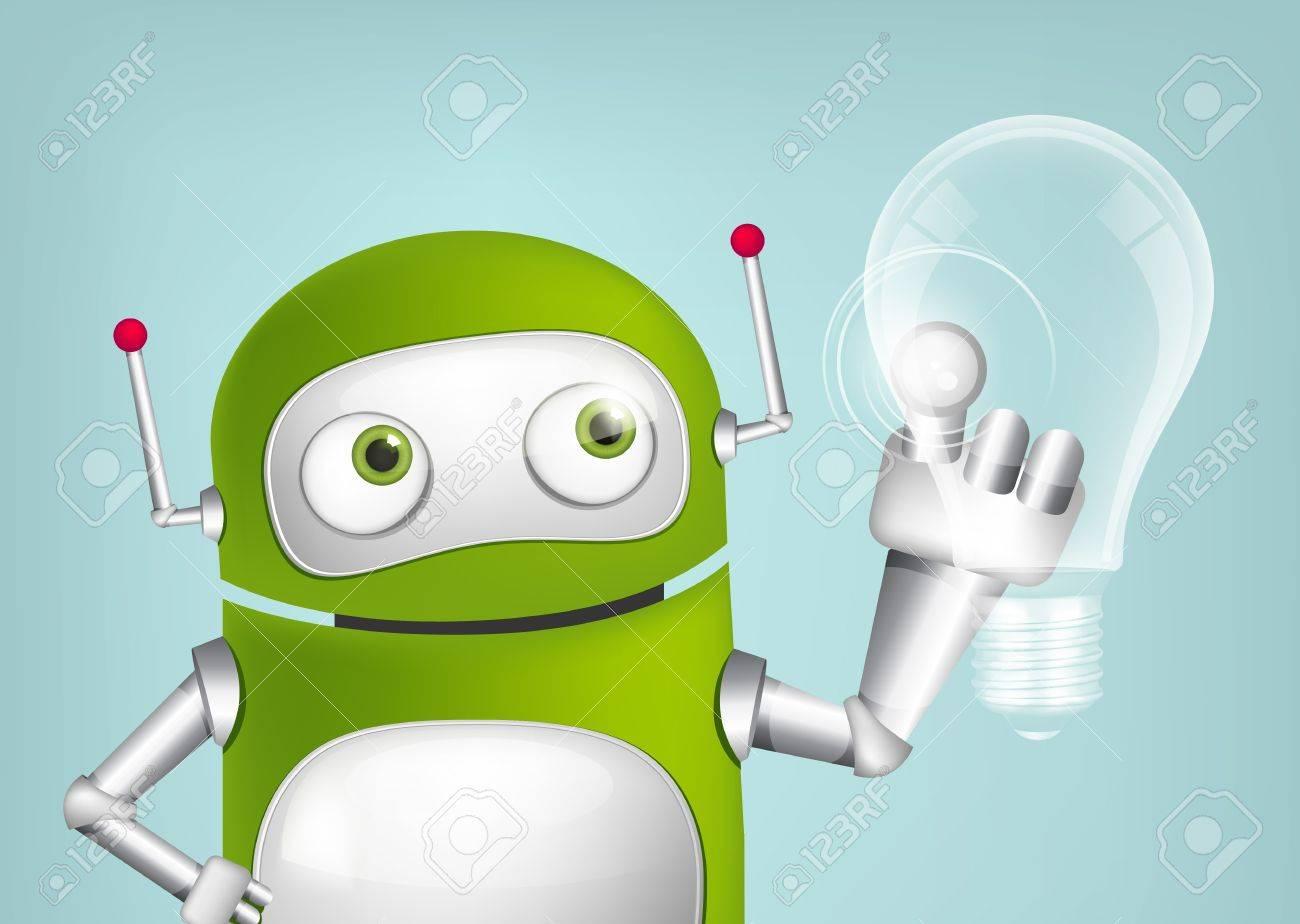 Green Robot Stock Vector - 20179419