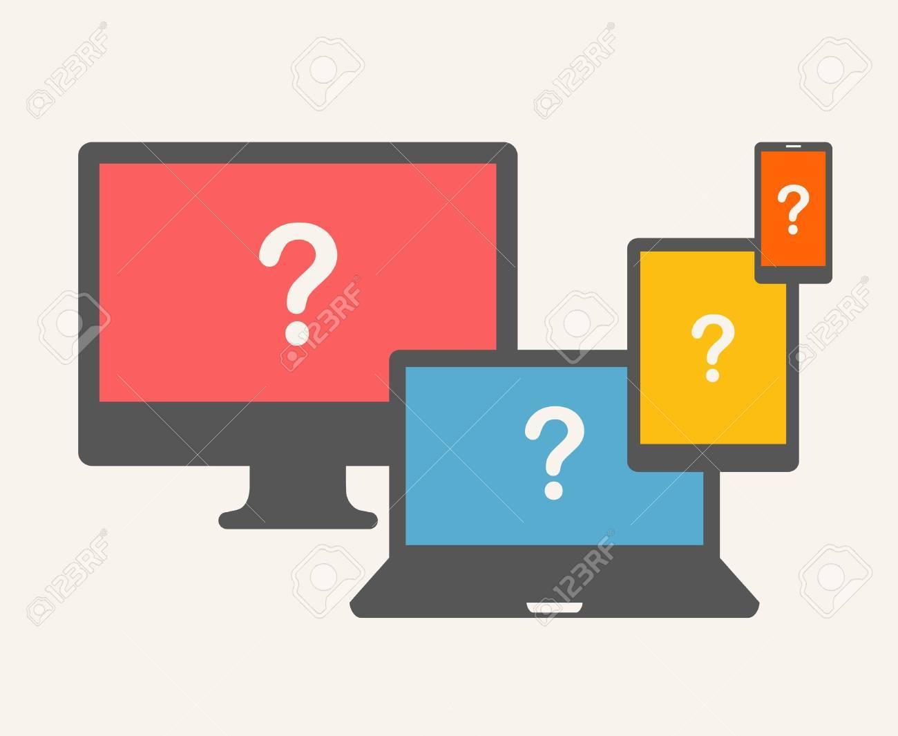Question Concept. Beige Background. Stock Vector - 20632986