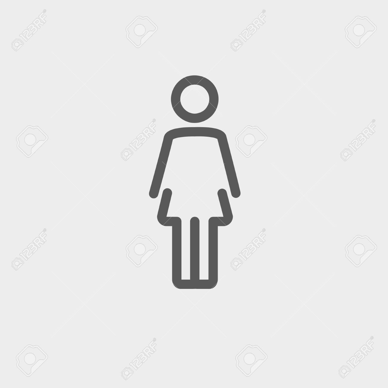 Vector Woman Standing Icon