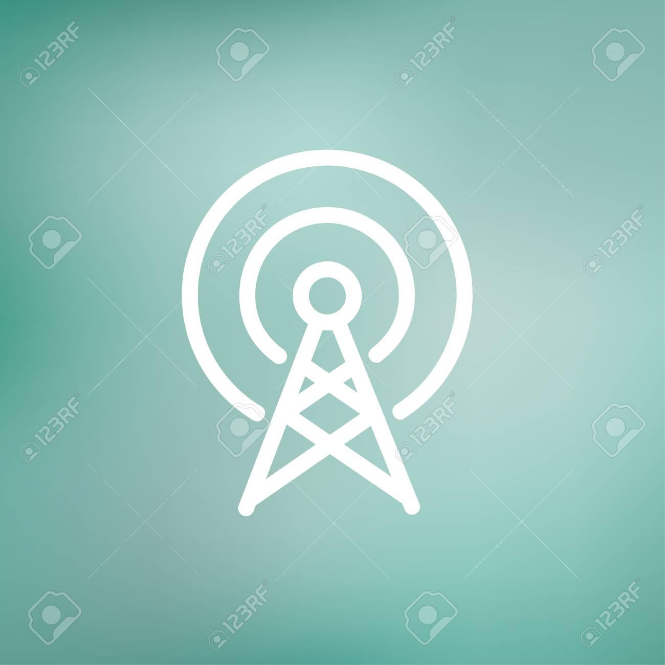Antennensymbol Dünne Linie Für Web Und Mobile, Modern Minimalistisch ...