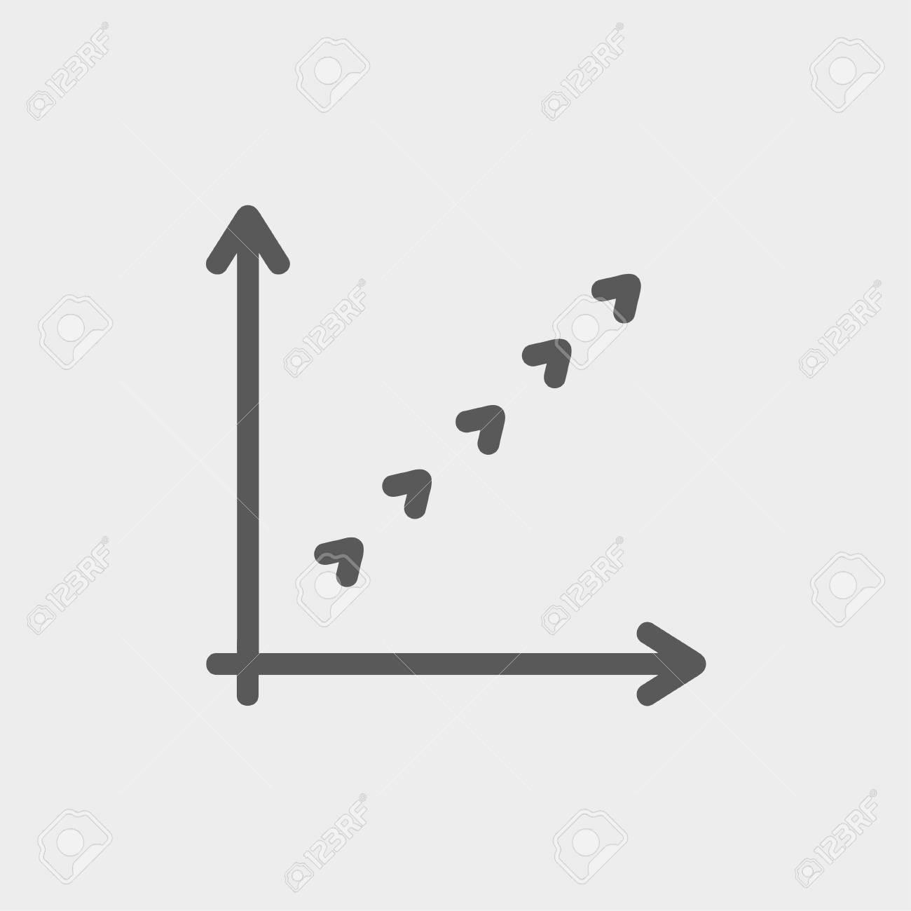 Lettre L logo icône flèche fine ligne pour le web et mobile, design plat  moderne et minimaliste. Vecteur gris foncé icône sur fond gris clair.