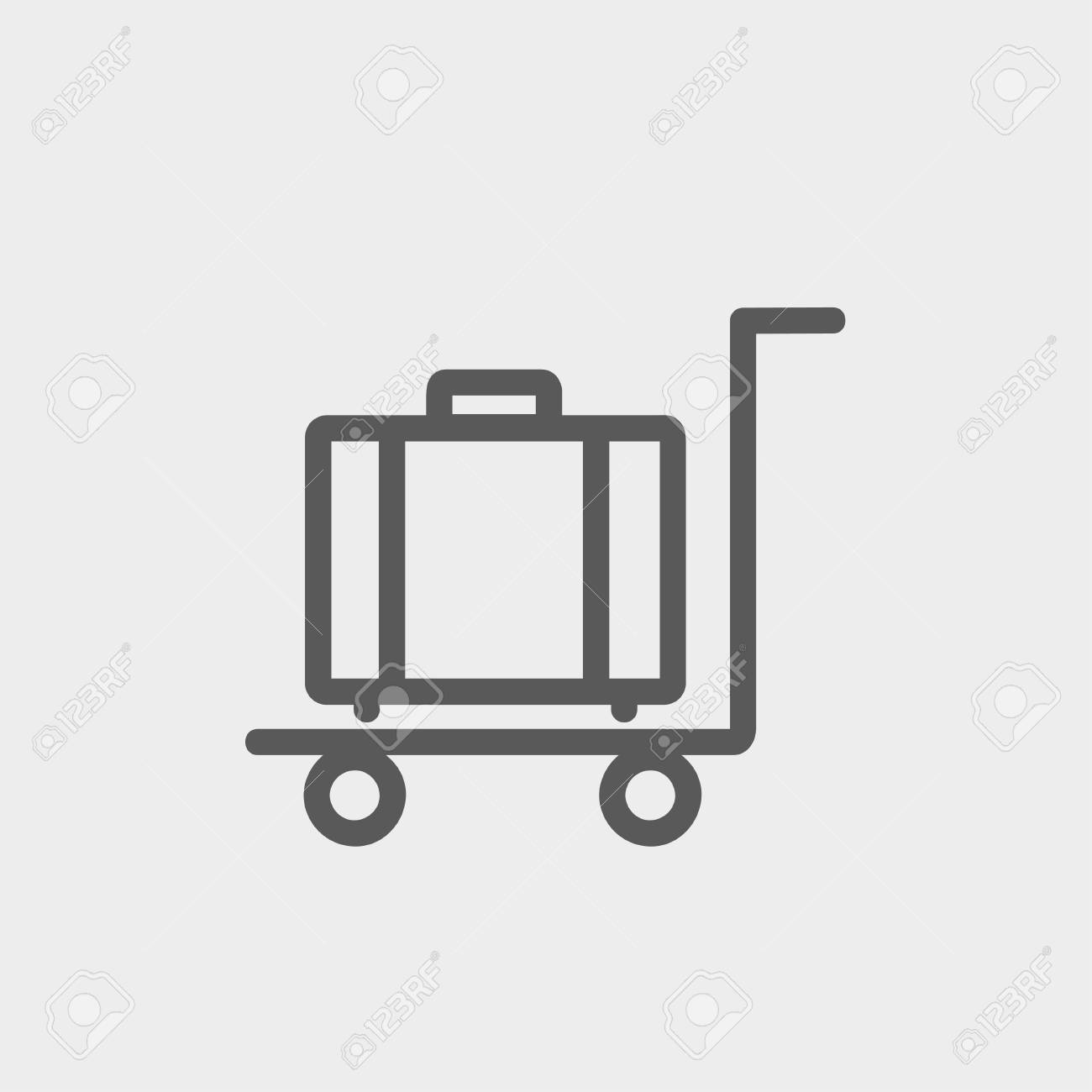 Trolley Luggage Icon Thin Line For Web And Mobile, Modern ...