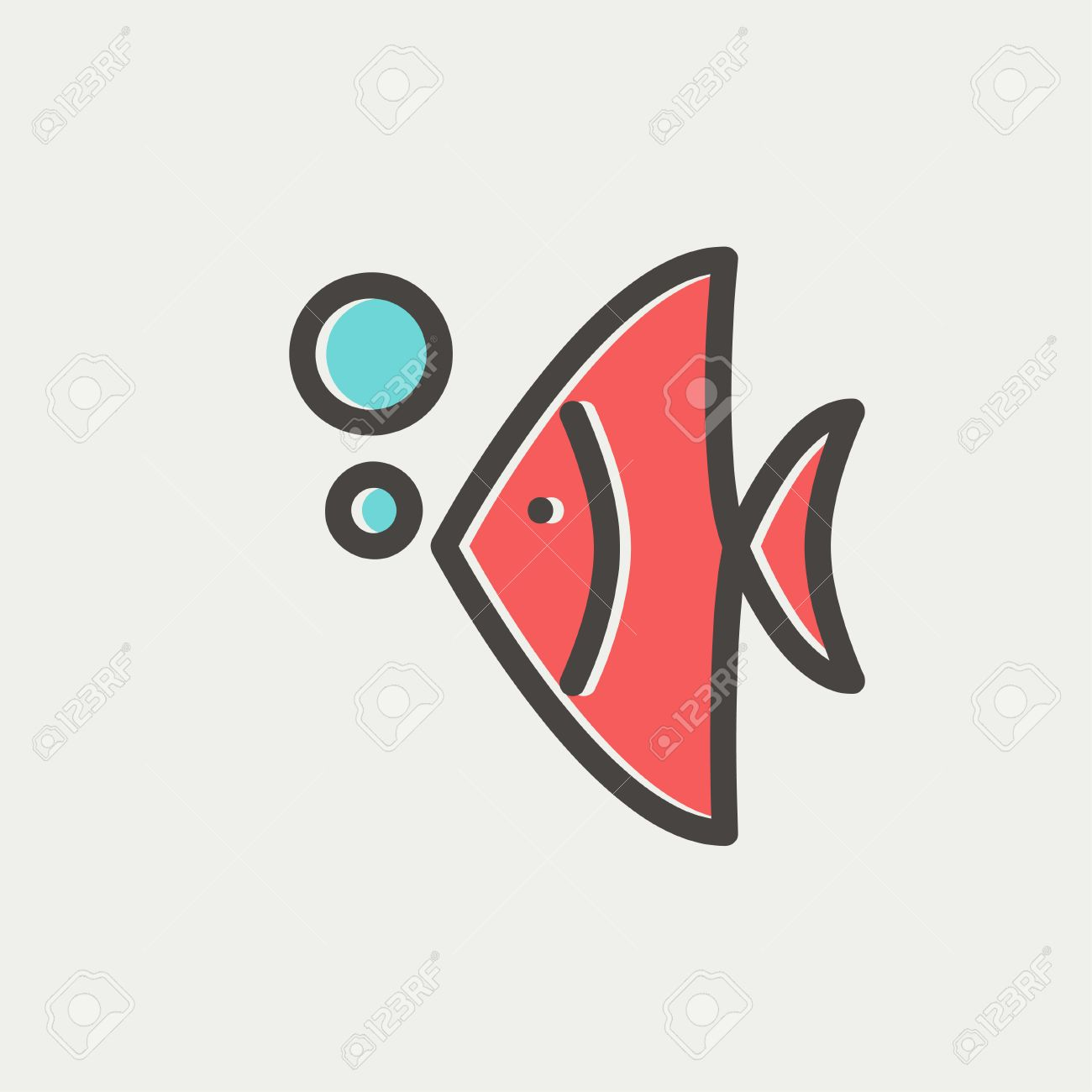 Tropical Fish Icon Thin Line For Web And Mobile, Modern Minimalistic ...
