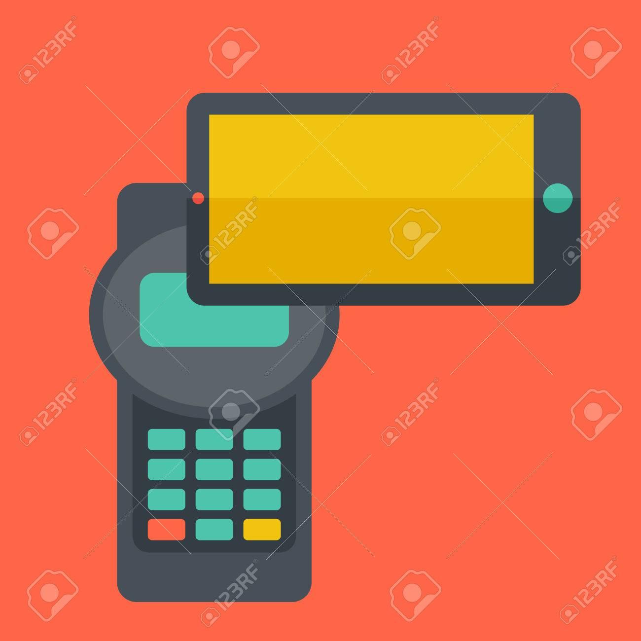 Eine Kreditkarte Maschine Und Smartphones Als Anwendung Für Internet ...