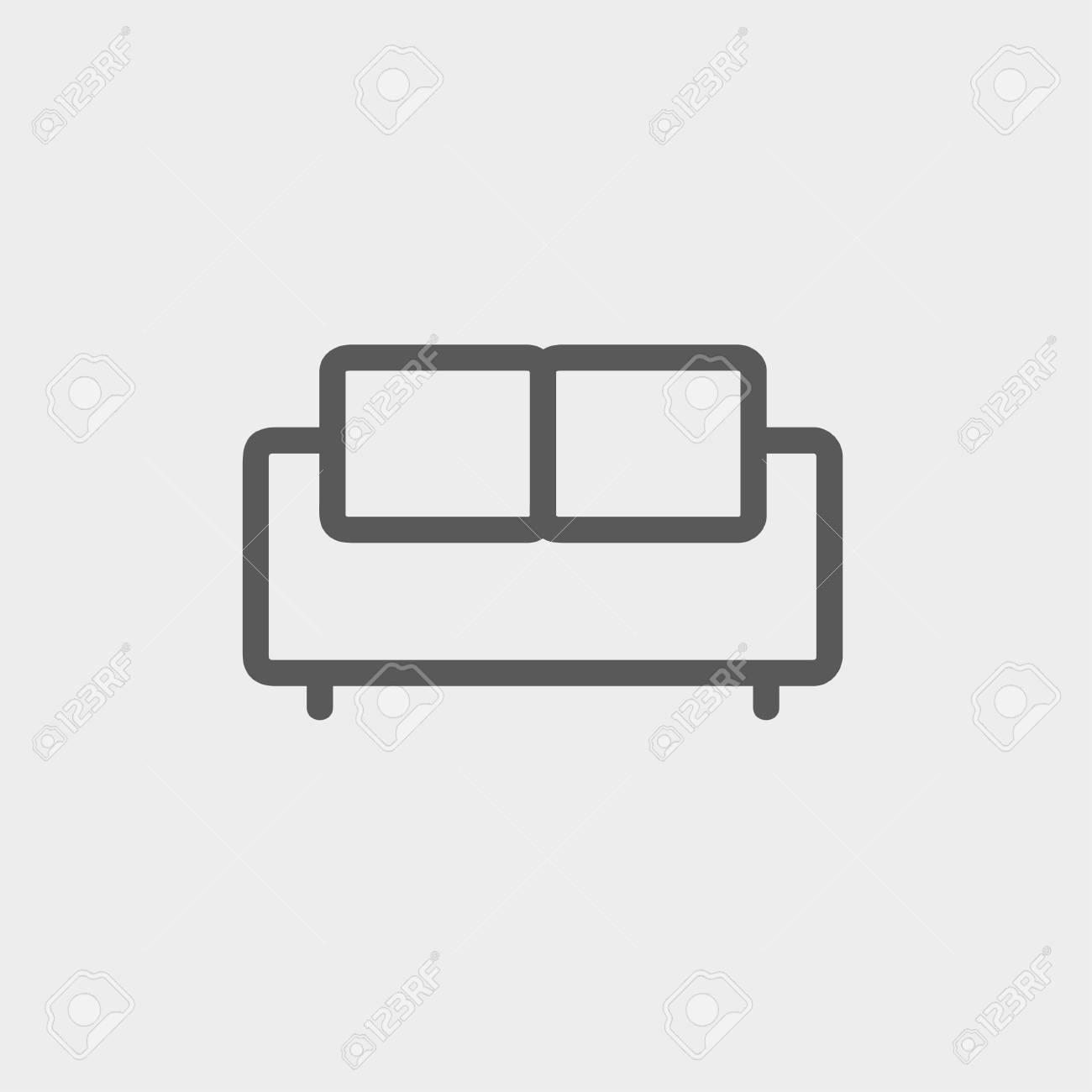 Möbel Sofa Icon Dünne Linie Für Web Und Mobile Modern