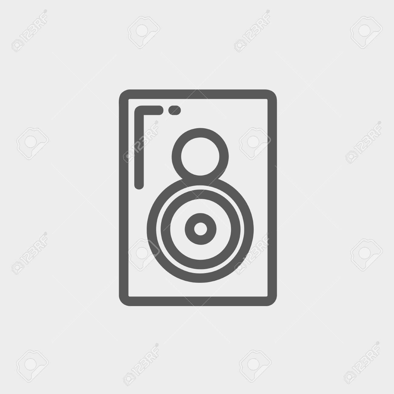 Zwei-Wege-Audio-Lautsprecher-Symbol Dünne Linie Für Web Und Mobile ...