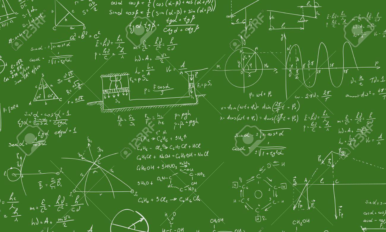 Eine Tafel Mit Algebra Formel. Einem Zeitgenössischen Stil. Vector ...
