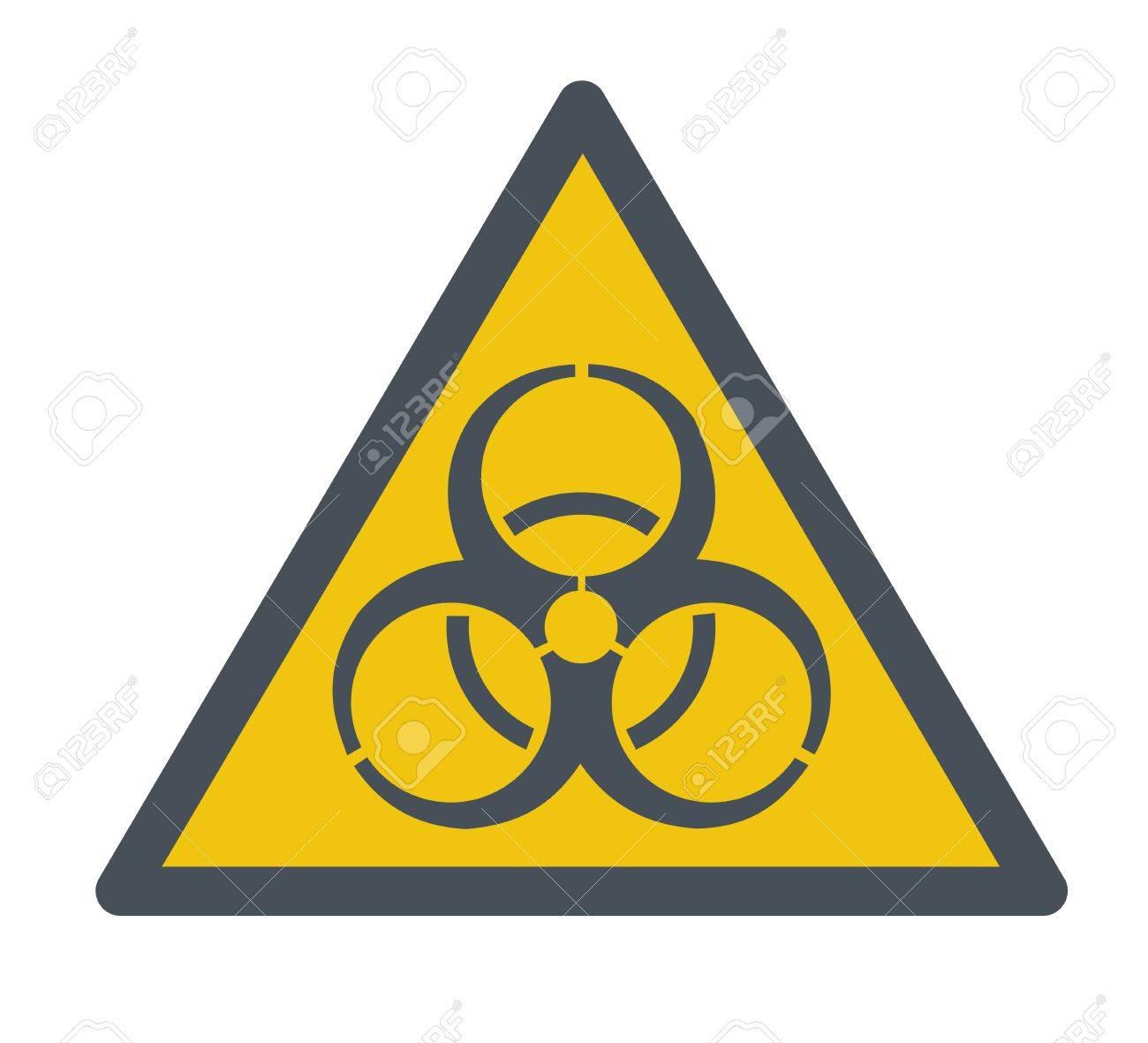 Ein Biohazard-Symbol. Einem Zeitgenössischen Stil. Vector Flaches ...