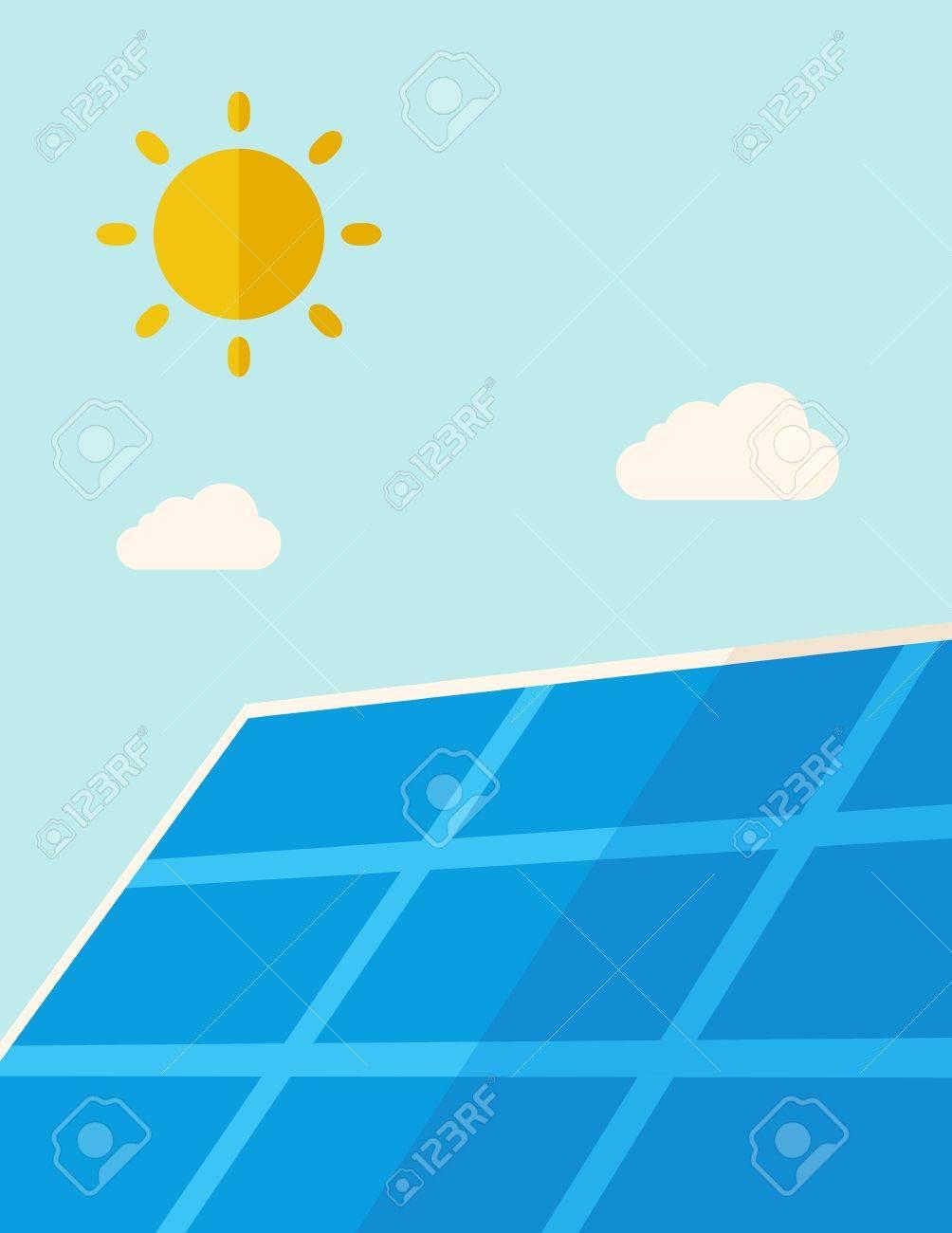 Eine Solarpanel Unter Der Hitze Der Sonne. Einem Zeitgenössischen ...