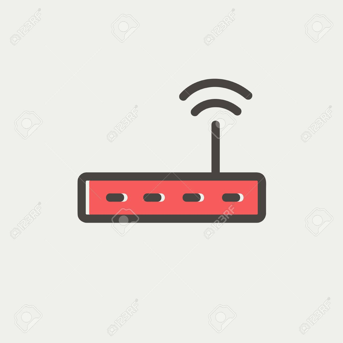 Wifi router modem icon thin line for web and mobile, modern minimalistic