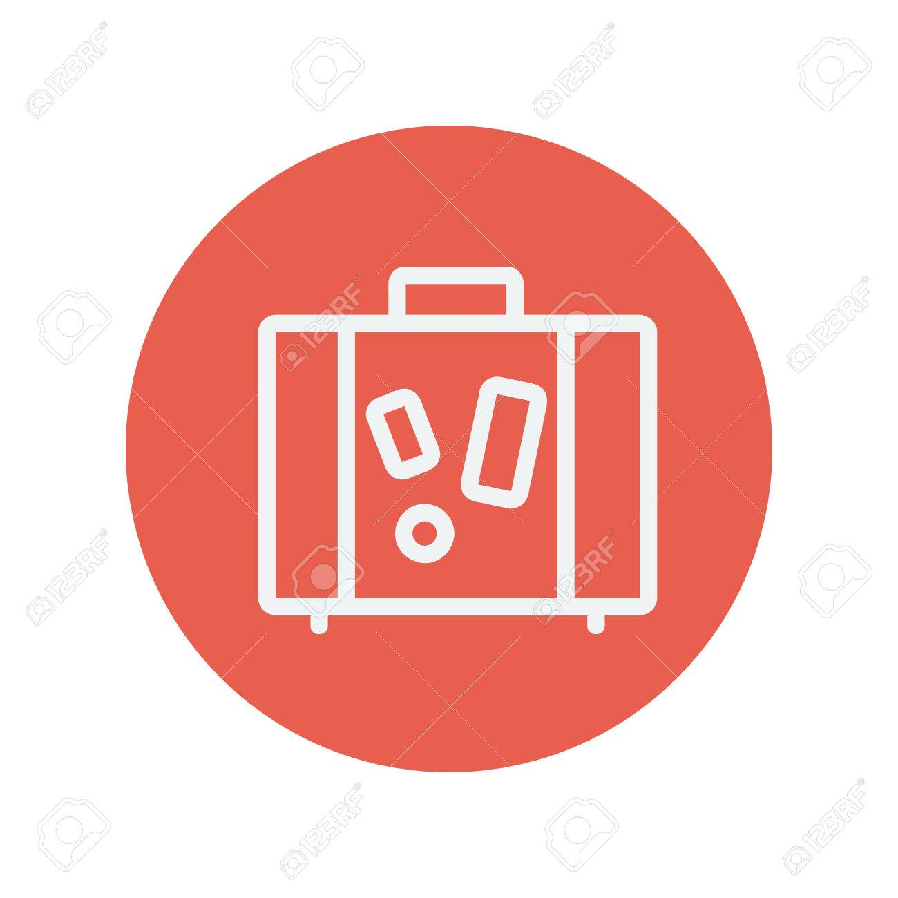 fabulous maleta icono de lnea delgada para la web y el diseo minimalista plana mvil vector with diseo minimalista web - Diseo Minimalista