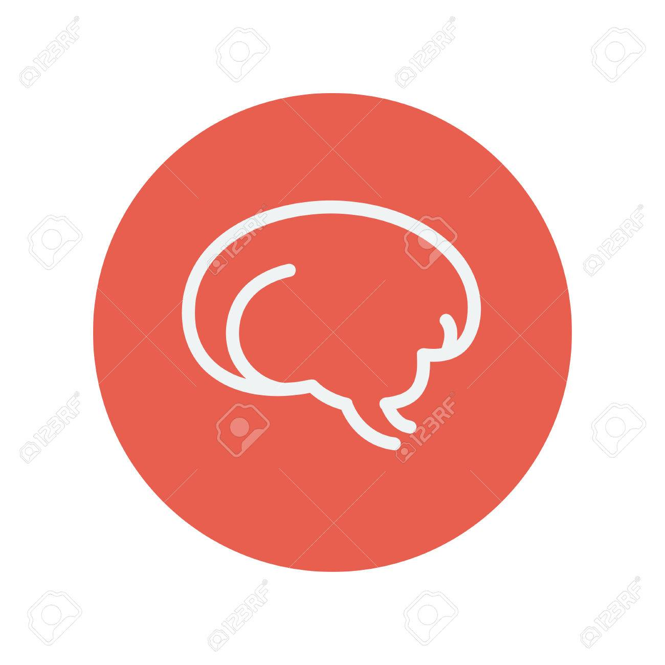 Cerebro Humano Icono De Línea Delgada Para Web Y Diseño Plano Móvil ...