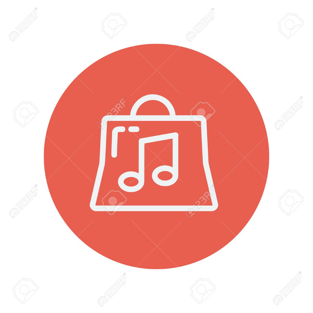 shopping bag with musical note thin line icon for web and mobile rh 123rf com