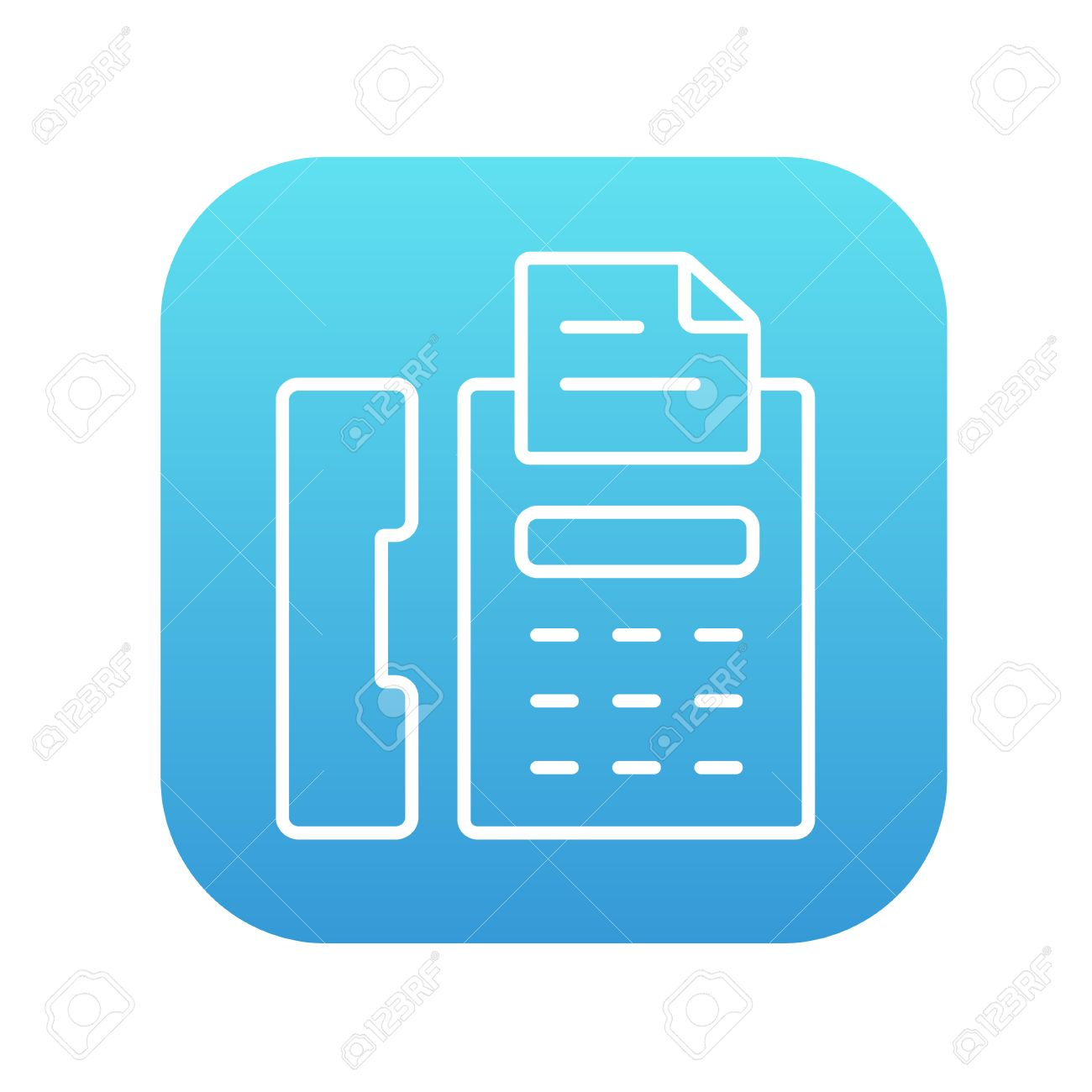 fax machine line icon for web mobile and infographics vector royalty free cliparts vectors and stock illustration image 49739713 fax machine line icon for web mobile and infographics vector