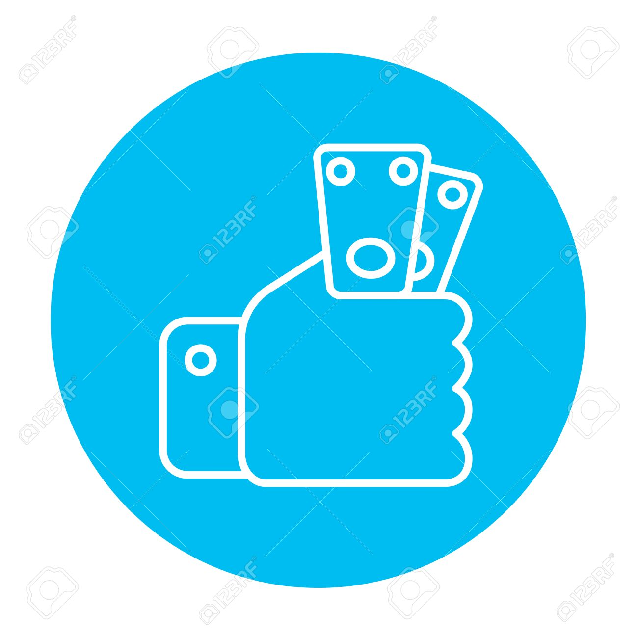 hand holding money line icon for web mobile and infographics