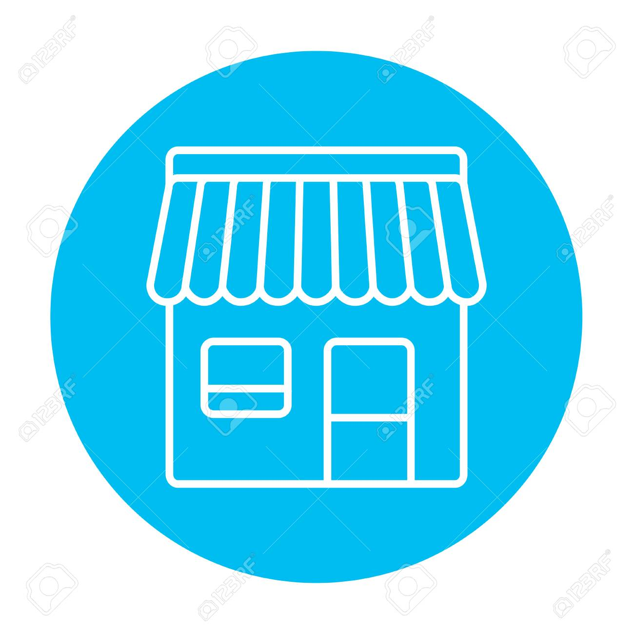 shop line icon for web mobile and infographics vector white rh 123rf com