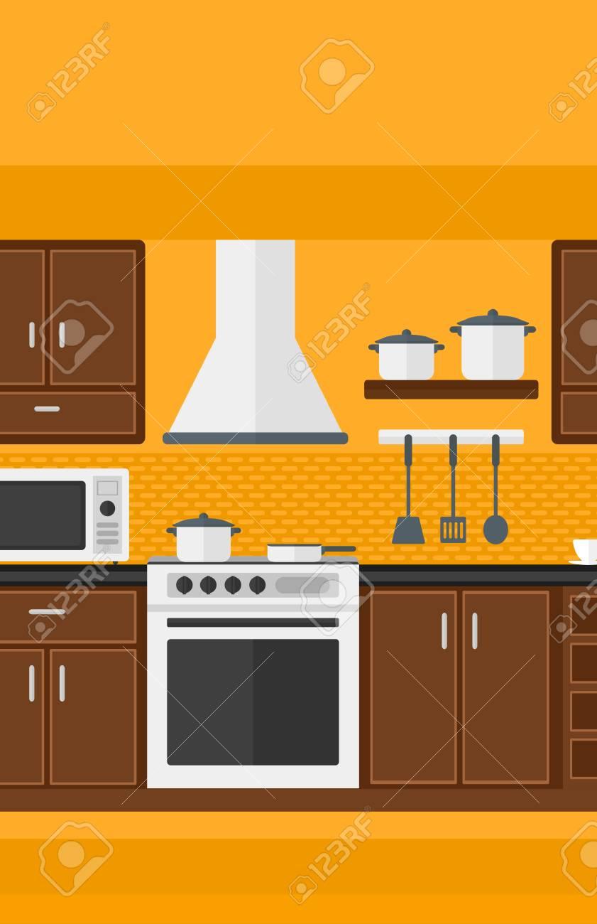 Antecedentes De La Cocina Con Electrodomésticos De Vector ...