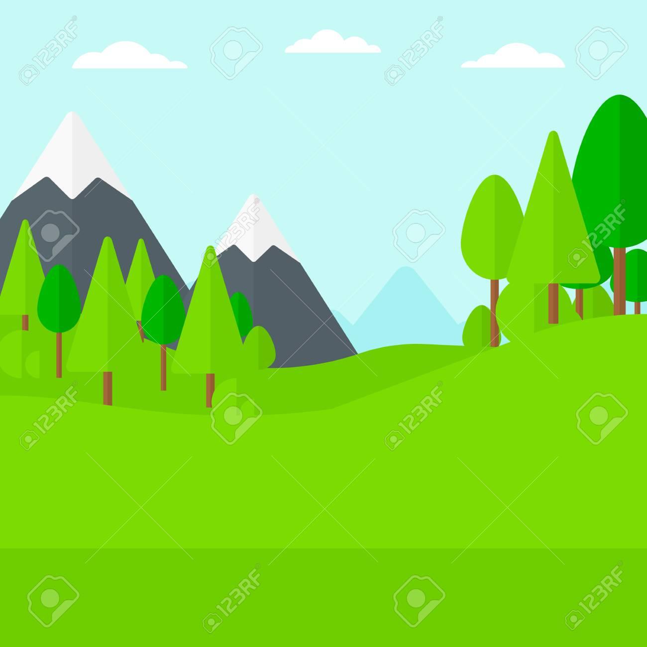 森 イラスト 背景