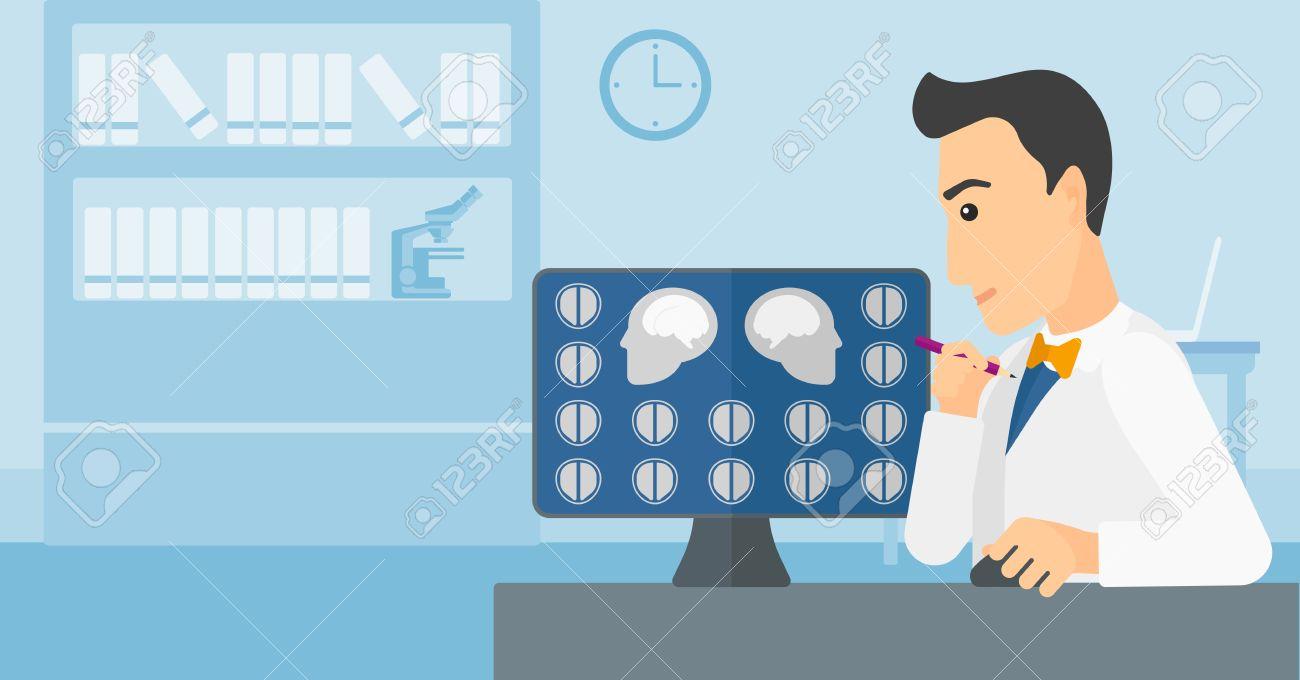 Resultat d'imatges de médico mirando el ordenador