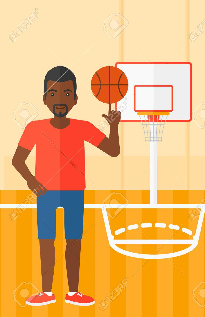 An African American Man Spinning Basketball Ball On His Finger Royalty Free Cliparts Vectors And Stock Illustration Image 52735156