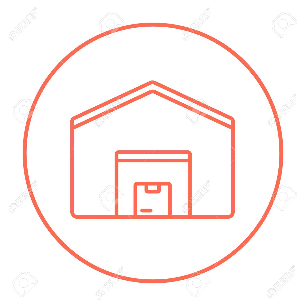 warehouse line icon for web mobile and infographics vector rh 123rf com