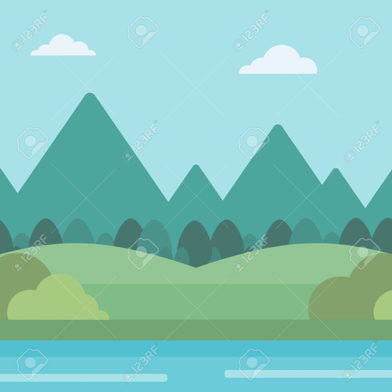 background of landscape with mountains and river vector flat royalty free cliparts vectors and stock illustration image 54902543 background of landscape with mountains and river vector flat royalty free cliparts vectors and stock illustration image 54902543