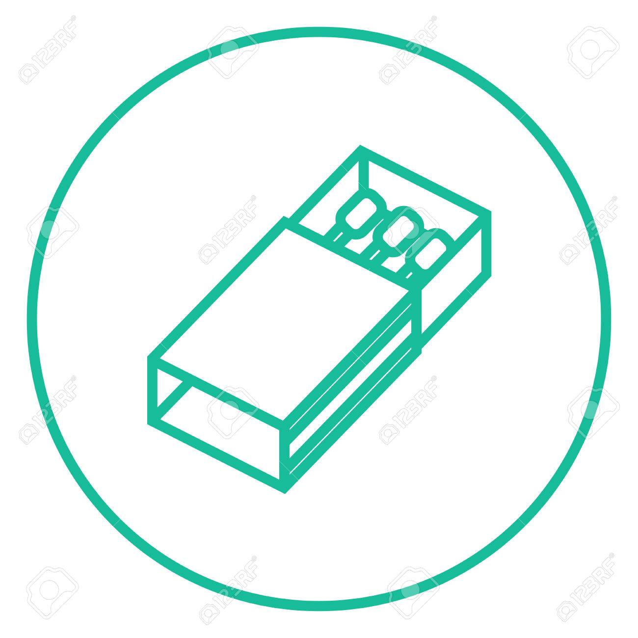 Matchbox Thick Line Icon With Pointed Corners And Edges For Web ...