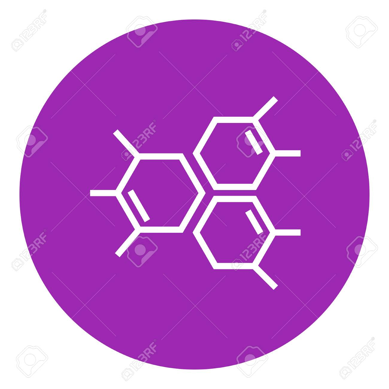 Chemical Formula Thick Line Icon With Pointed Corners And Edges