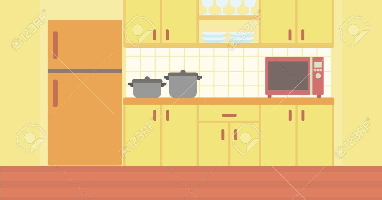 Antecedentes De Cocina Con Utensilios De Cocina Ilustración ...