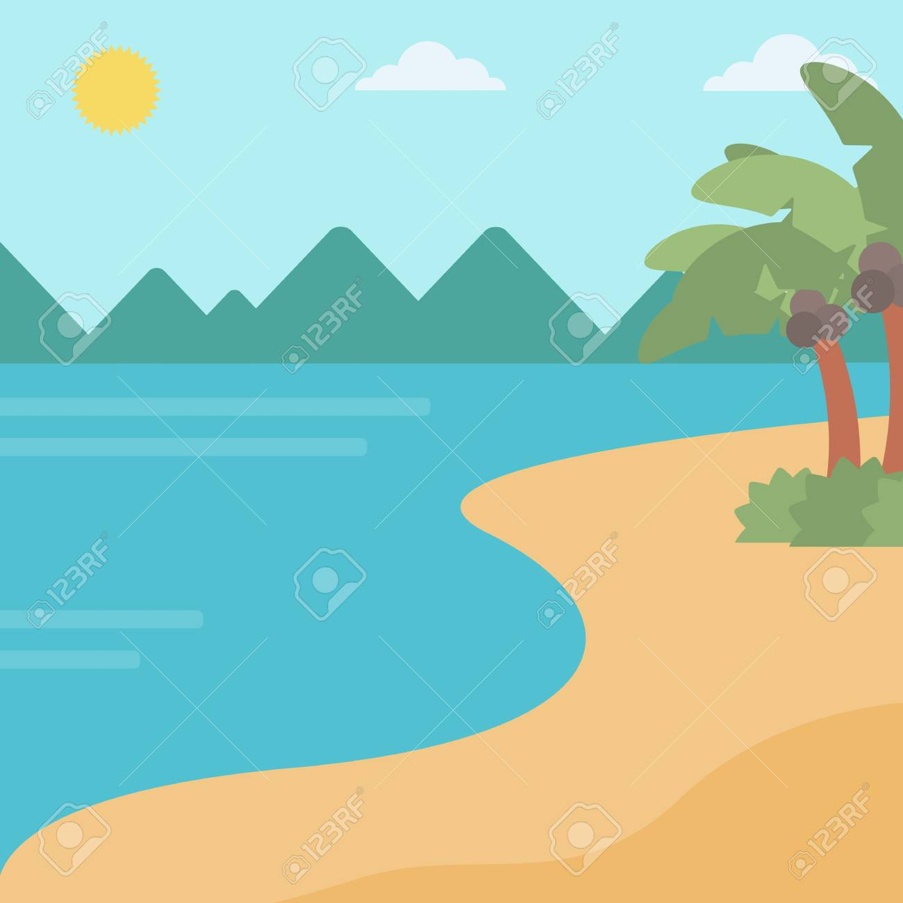 background of tropical beach with palm trees and the sea vector rh 123rf com sea victory minnie falgout llc sea victor 40