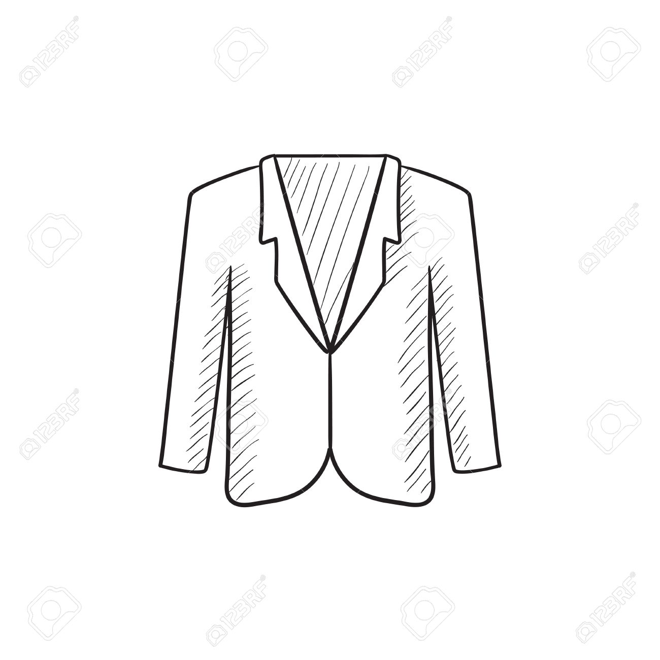 male jacket vector sketch icon isolated on background hand drawn
