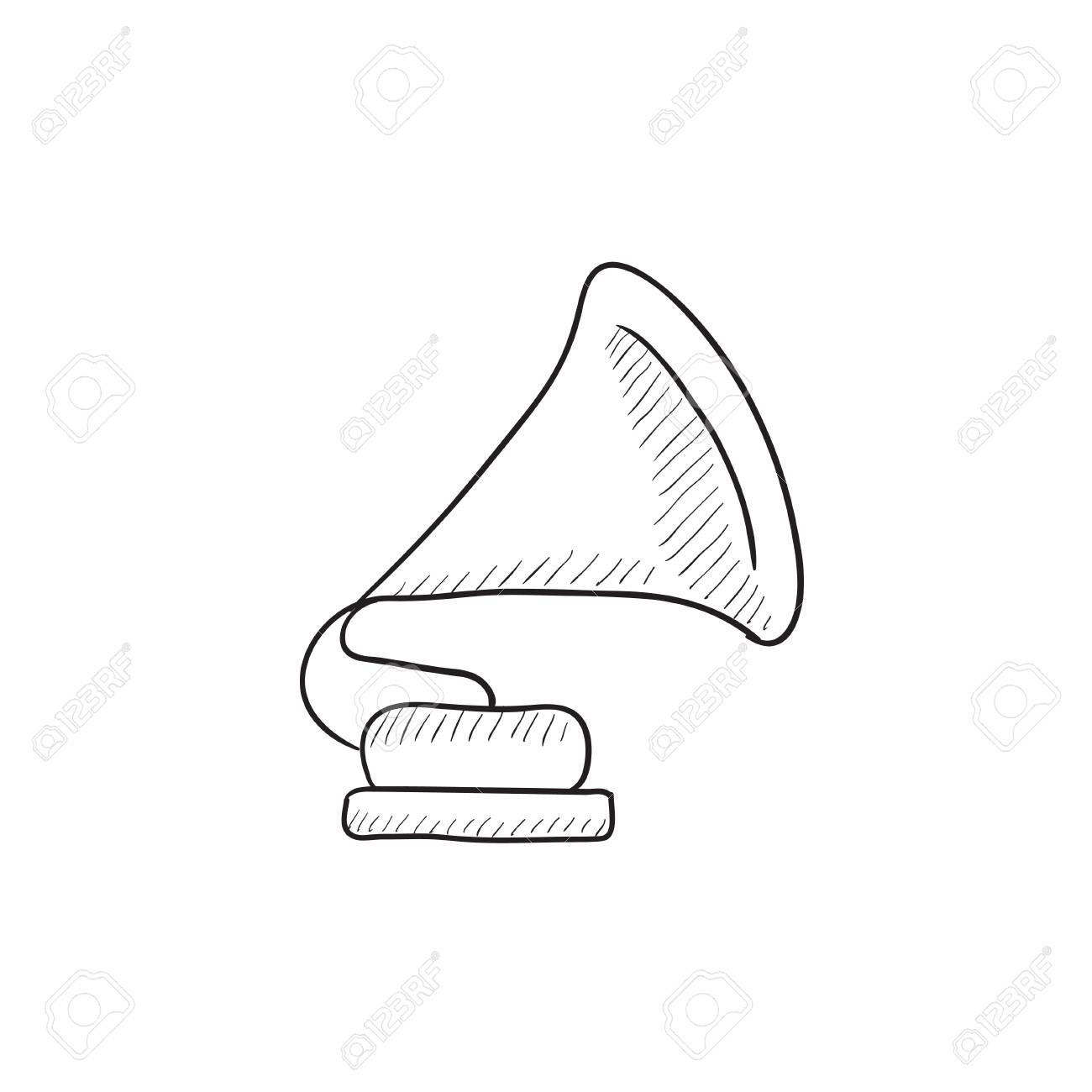 gramophone vector sketch icon isolated on background hand drawn royalty free cliparts vectors and stock illustration image 57888161 123rf com