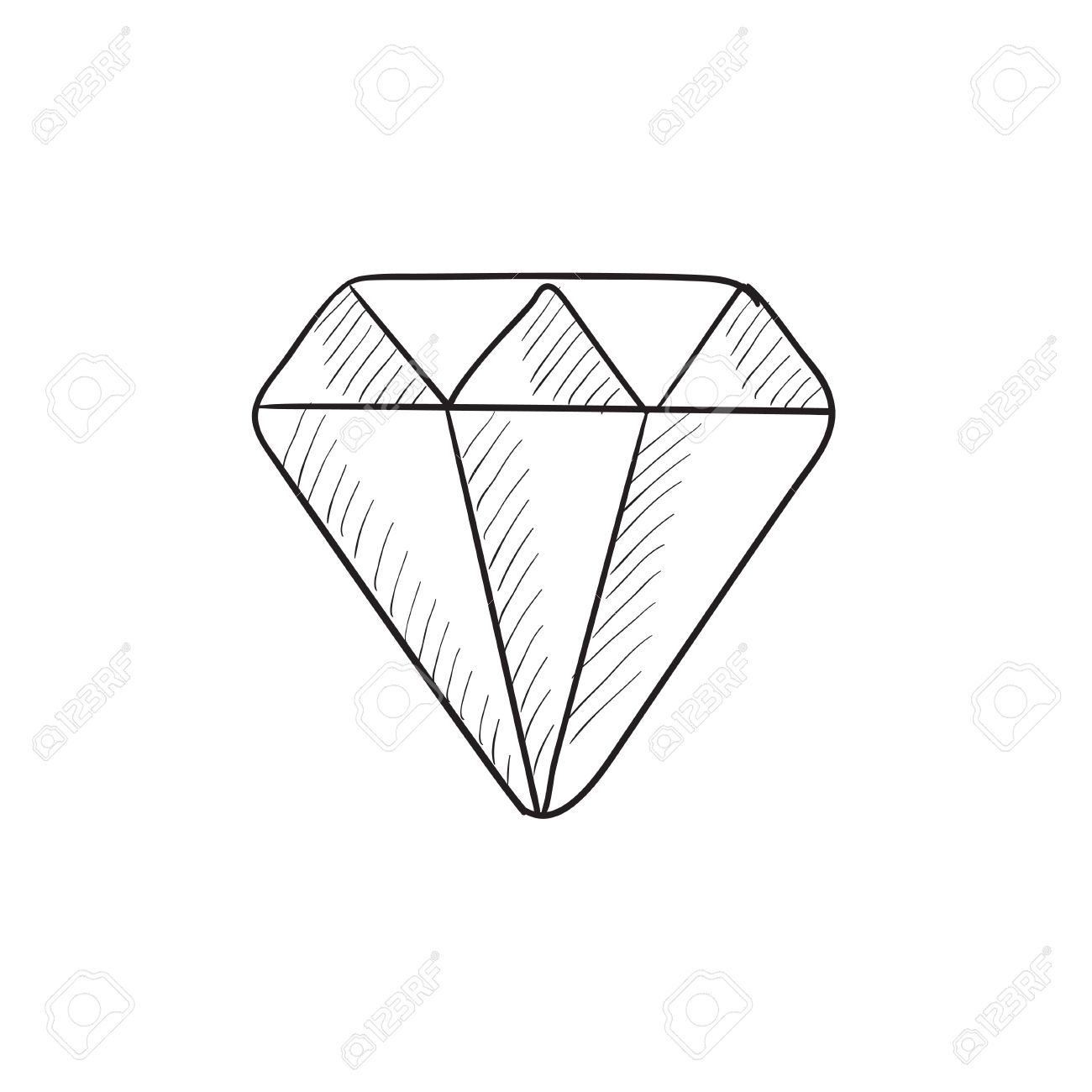 diamond vector sketch icon isolated on background hand drawn royalty free cliparts vectors and stock illustration image 57814301 diamond vector sketch icon isolated on background hand drawn
