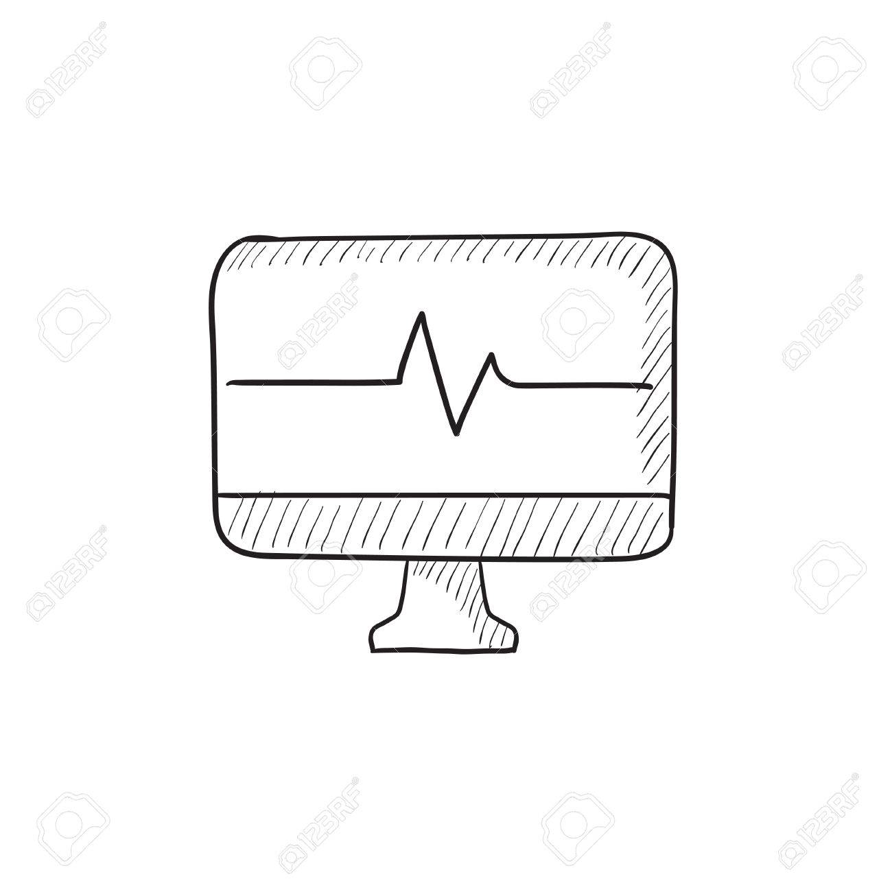 Heart beat monitor vector sketch icon isolated on background hand banco de imagens heart beat monitor vector sketch icon isolated on background hand drawn heart beat monitor icon heart beat monitor sketch icon for ccuart Images