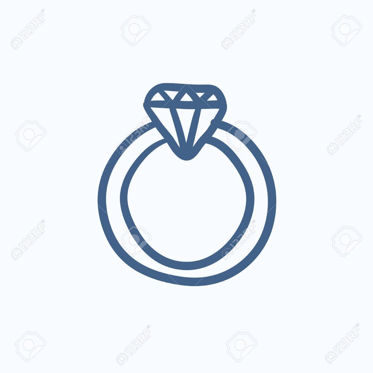 croquis bague diamant