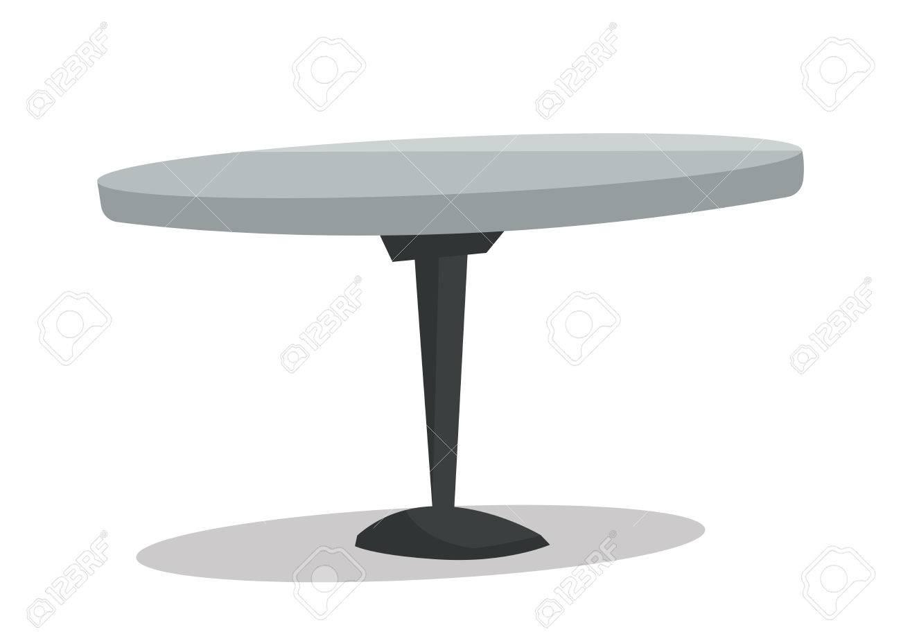 banque dimages bar table ronde vecteur design plat illustration isol sur fond blanc - Table Ronde Bar