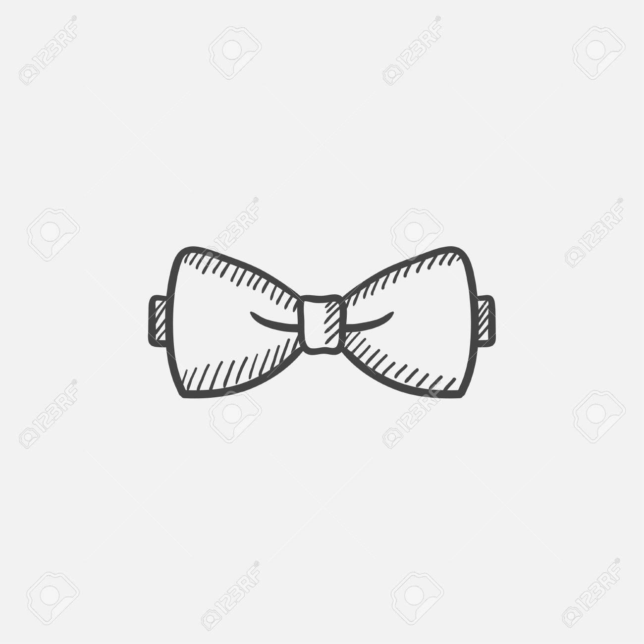 Bow Tie Sketch Icon For Web Mobile And Infographics Hand Drawn Royalty Free Cliparts Vectors And Stock Illustration Image 62054115