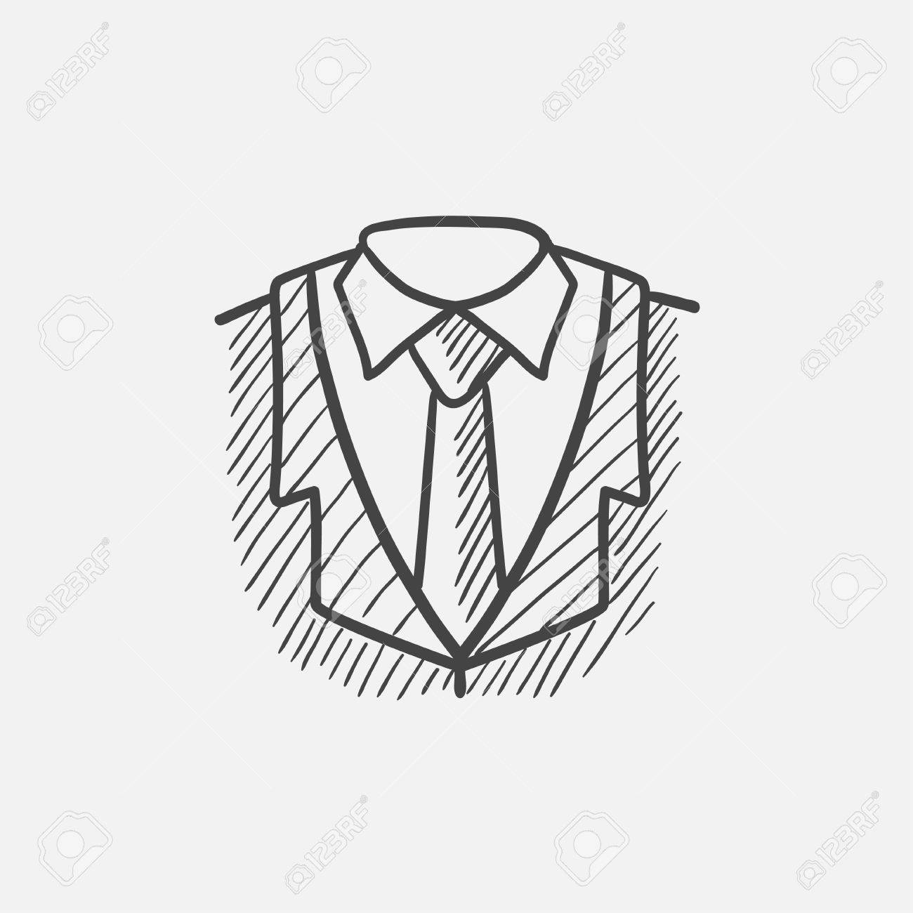 male suit sketch icon for web mobile and infographics hand Tie Business Logo male suit sketch icon for web mobile and infographics hand drawn vector isolated icon