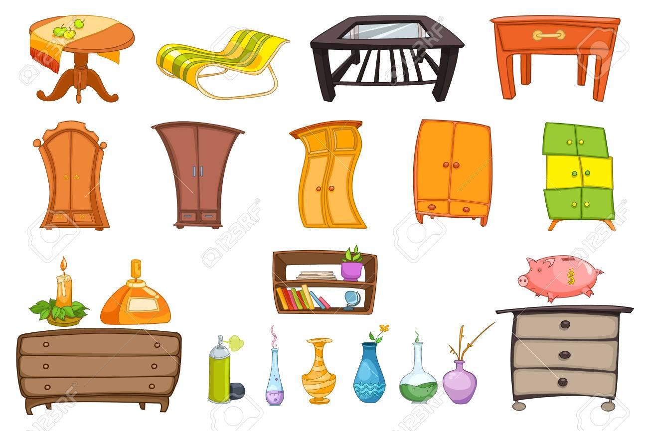 mobel set mit couchtisch eine chaiselongue kommode schrank regal und zubehor