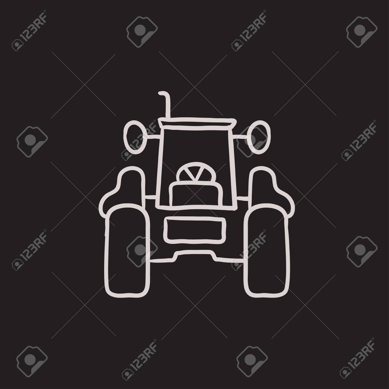 Traktor Skizze Symbol Für Web, Mobile Und Infografiken. Hand ...
